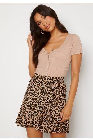 Trendyol Dame Miniskjørt - Wrap Mini Skirt Brown M