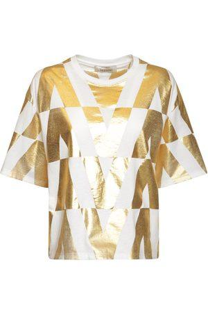 VALENTINO V Optical Print Cotton Jersey T-shirt
