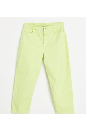 AsYou Dame Jeans - Plus 90's dad jean in lime green