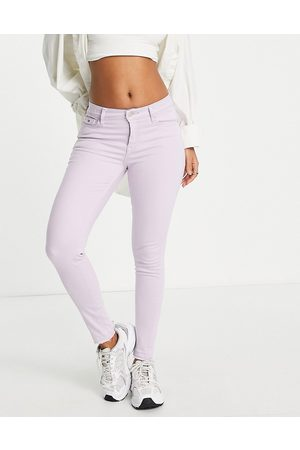 Tommy Hilfiger Nora mid rise skinny jeans in lilac-Purple