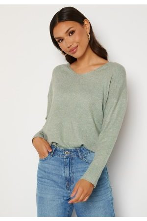 ONLY Rica Life L/S V-Neck Pullover Knit Chinois Green XL