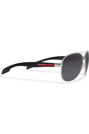Prada Linea Rossa Herre Solbriller - 0PS 53PS Polarized Sunglasses Silver