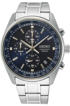 Seiko Herre Klokker - Chronograph 42mm Steel Blue Dial