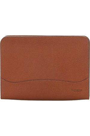 Burberry Brukt Leather Clutch Bag