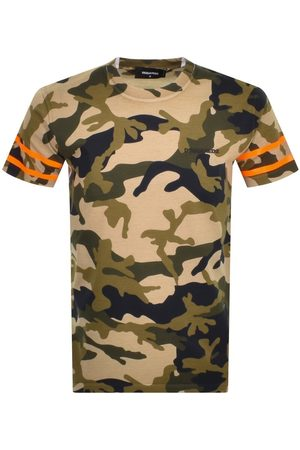 Dsquared2 Short Sleeved Camouflage T Shirt