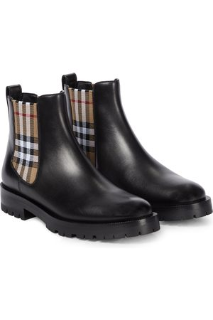 Burberry Dame Skoletter - Leather Chelsea boots