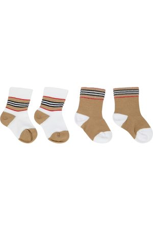 Burberry Baby set of 2 pairs of cotton-blend socks