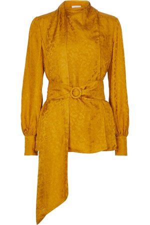 Erdem Dame Bluser - Willia paisley silk jacquard blouse