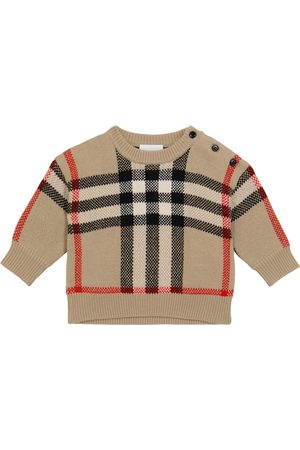Burberry Baby Strikkegensere - Baby wool and cashmere sweater
