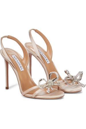 Aquazzura Babe 105 embellished sandals