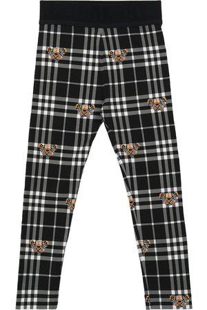 Burberry Jente Leggings - Checked stretch-cotton leggings