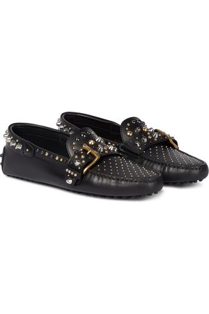 Tod's Gommini embellished leather loafers
