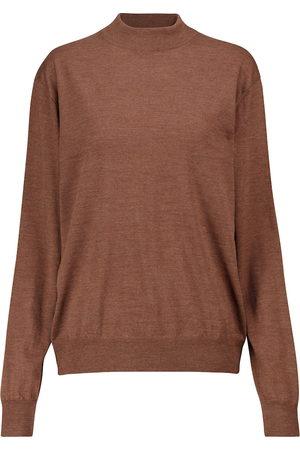 The Row Dame Strikkegensere - Dru merino wool sweater