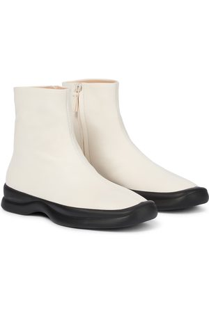 The Row Dame Skoletter - Town leather sock boots