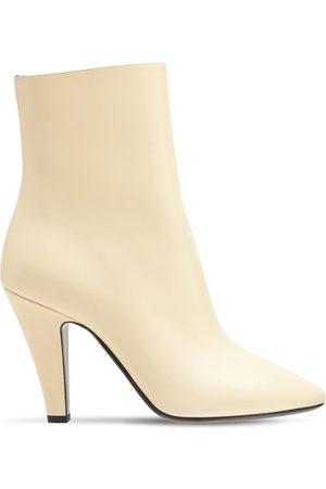 Saint Laurent 95mm 68 Leather Ankle Boots