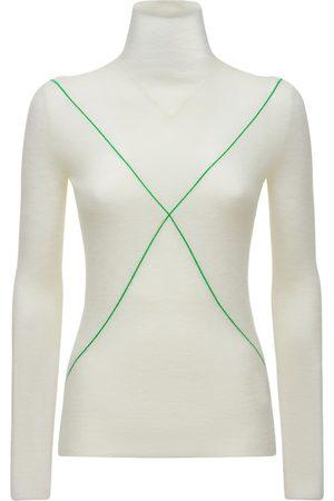 Bottega Veneta Mohair Blend Knit Turtleneck Sweater
