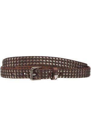 HTC Herre Belter - 2cm Studded Leather Belt