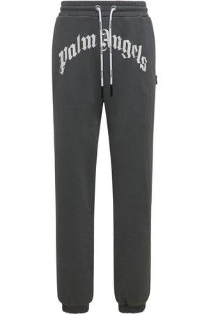 Palm Angels Logo Cotton Jersey Sweatpants