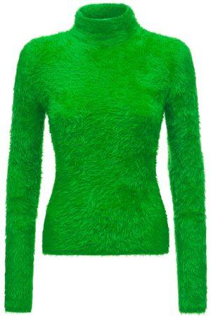 Stella McCartney Cotton Blend Knit Turtleneck Sweater