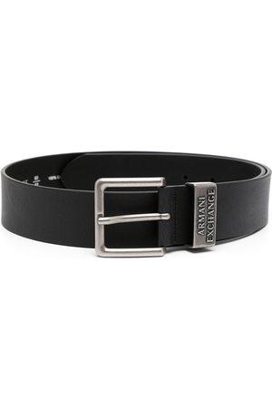 Armani Herre Belter - Logo-embossed leather belt