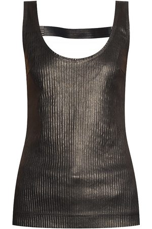 Givenchy Dame Singleter - Leather slip top