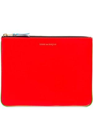 Comme des Garçons Herre Clutches - Super Fluo Bi-color Leather Pouch