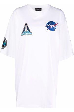 Balenciaga Dame Kortermede - Space multi-patch T-shirt