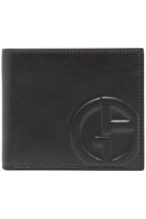 Armani Herre Lommebøker - Embossed-logo leather wallet