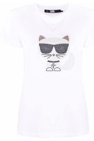 Karl Lagerfeld Choupette print T-shirt