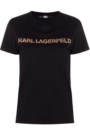 Karl Lagerfeld Embellished-logo T-shirt