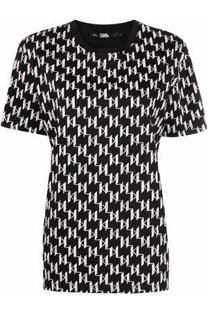 Karl Lagerfeld Monogram-pattern T-shirt