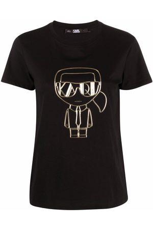 Karl Lagerfeld Dame Kortermede - Ikonik Art Deco T-shirt