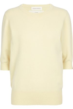 EXTREME CASHMERE Dame Strikkegensere - N°63 Well Our Yellow cashmere-blend top