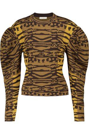 ULLA JOHNSON Livia jacquard wool sweater
