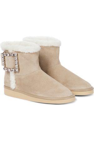 Roger Vivier Dame Skoletter - Winter Viv' Strass shearling ankle boots