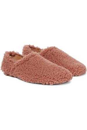 DRIES VAN NOTEN Dame Ballerinasko - Shearling slippers