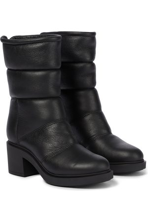 Gianvito Rossi Shearling-lined leather boots