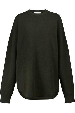 EXTREME CASHMERE Dame Strikkegensere - N° 53 Crew Hop cashmere-blend sweater