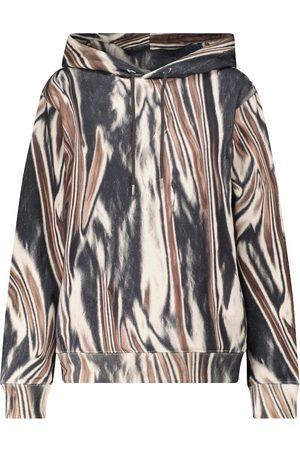 DRIES VAN NOTEN Printed cotton-jersey hoodie