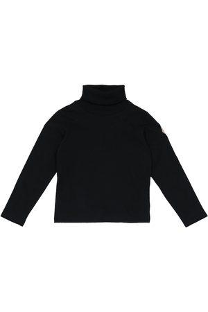 Moncler Jente Pologensere - Cotton jersey turtleneck top