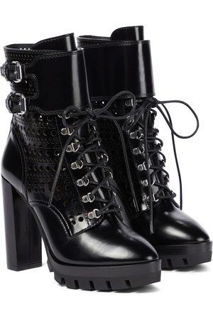 Alaïa Dame Skoletter - Laser-cut buckled leather boots
