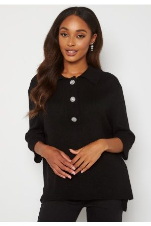 ONLY Dame Pologensere - Paloma 2/4 Polo Pullover Black XS