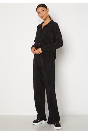 BUBBLEROOM Dame Loungewear - Megan pleated set Black XS