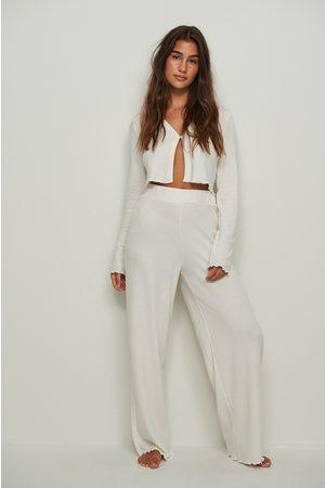 NA-KD Dame Loungewear - Resirkulert Loungewear Vaffelbukse Med Babylock