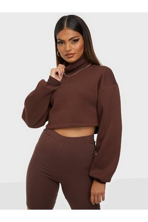 NLY Dame Pologensere - Cropped Turtleneck Sweat