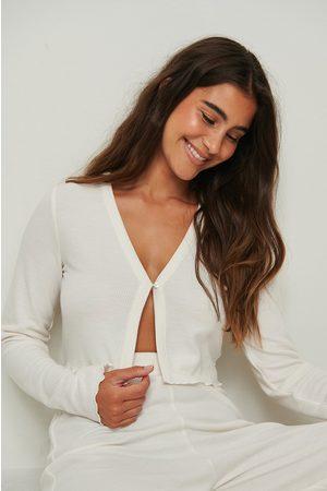 NA-KD Dame Loungewear - Recycled Babylock Waffle Loungewear Top