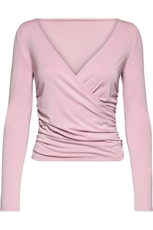 Guess Crossover Ruched Mena Top Bluse Langermet