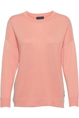 Lexington Valentina Merino/Viscose Blend Crew Neck Sweater Strikket Genser Oransje