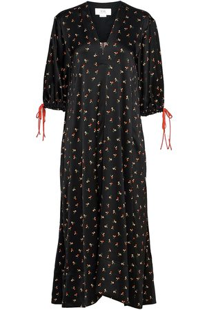 Victoria Victoria Beckham Puff Sleeve Maxi Dress Maxikjole Festkjole