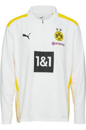 PUMA Bvb Training 1/4 Zip Top W/ Sponsor T-shirts Football Shirts